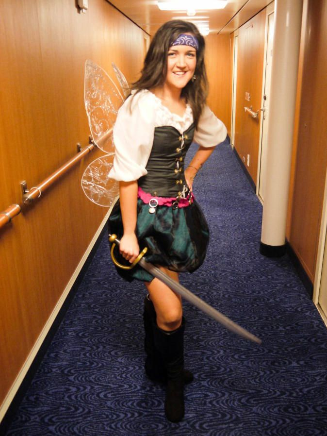 ~ Fancy Dress Costume for Halloween 2014 ~ Zarina from the film Tinkerbell and the Pirate Fairy ~ I made everything except the sword. I'm most proud of the wings!
