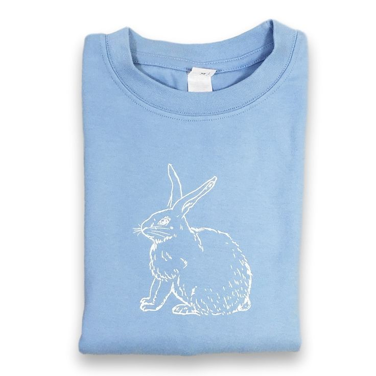 Rabbit Blue Short Sleeve Tee