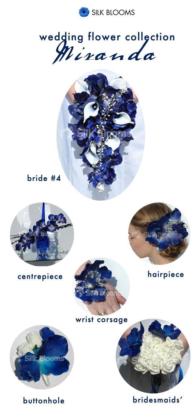 Spotlight on… Miranda: midnight blue orchid bouquet