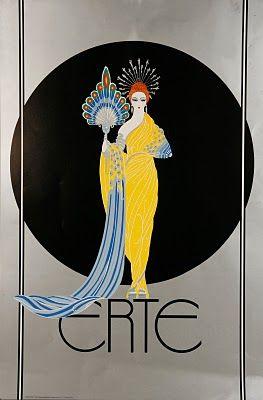ERTÉ (1892-1990)  1º éxodo de Aportaciones europeas. _Principal representante del Art Decó en EEUU. _Dibujo estilizado. _Decoraciones exóticas.  His real name is Roman de Tertoff, Russian-born French designer and artist who was a leading exponent of Art Deco in the 1920s and 30s. in EEUU