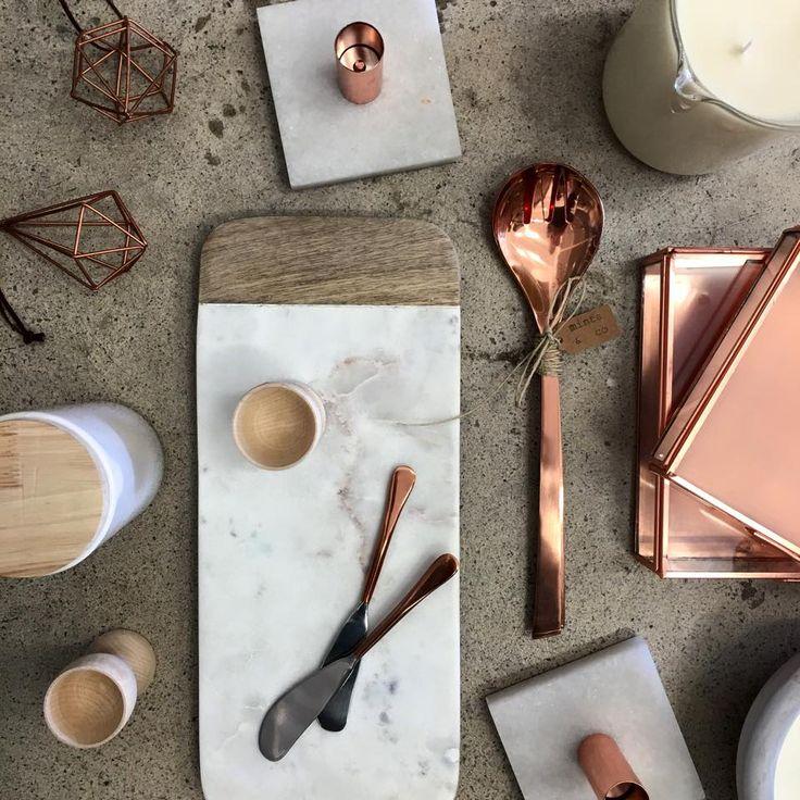 Copper, marble, wood homewares L O V E. Minta and Co   S H O P