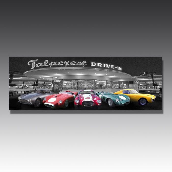 Classic car lovers need this in their lives: an LED adorned image of some of the all time great motors!