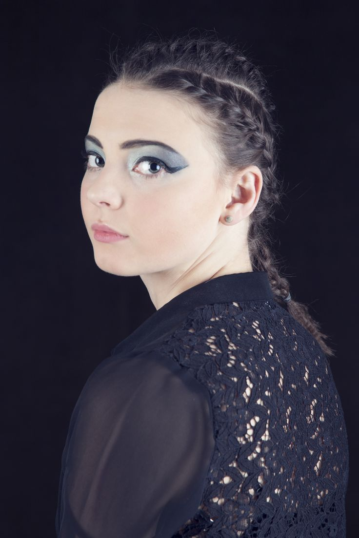 #hair #model #motion #blur #flick #studio  #canon #braids #blue #makeup #lace #blouse