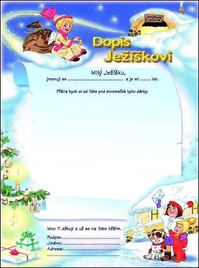 Dopisy pro Ježíška - Omalovánky pro děti