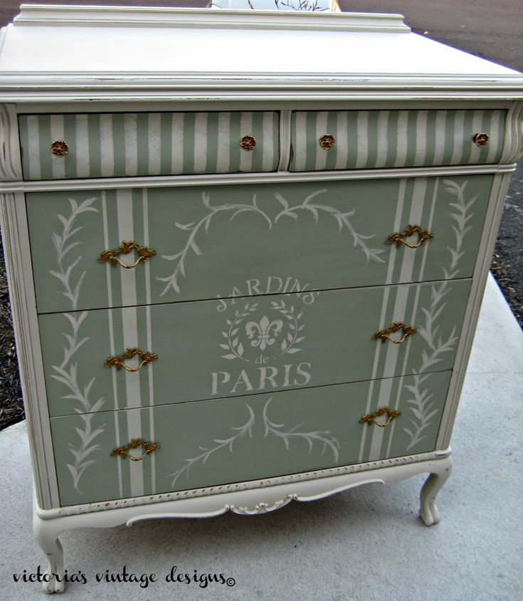 vintage designs beach house dresser eu0027s - Painted Dressers