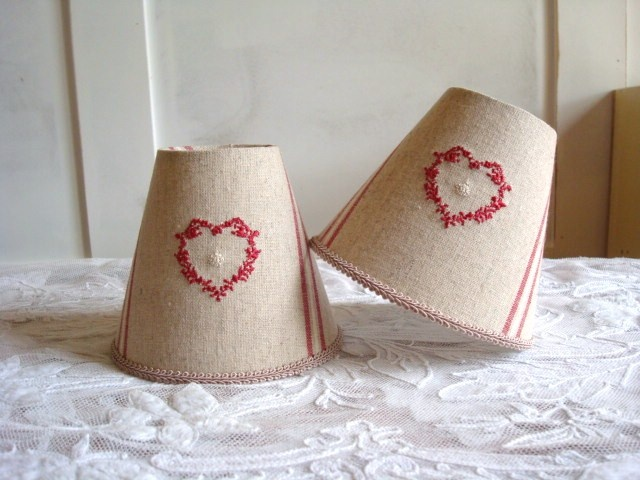 122 best burlap lamp shades images on pinterest light covers heart burlap lamp shades aloadofball Choice Image