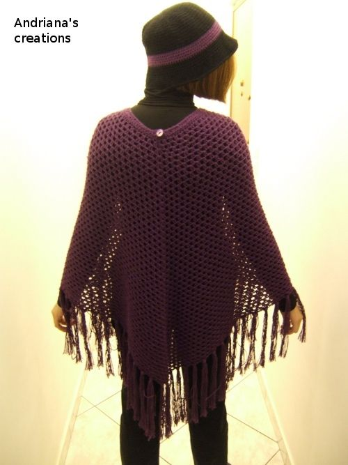 Crocheted poncho with matching hat https://www.facebook.com/pages/%CE%A0%CE%BB%CE%B5%CE%BA%CF%84%CE%B5%CF%82-%CE%94%CE%B7%CE%BC%CE%B9%CE%BF%CF%85%CF%81%CE%B3%CE%B9%CE%B5%CF%82-Andrianas-Creations/355227501235306