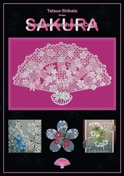 SAKURA BY TATSUE SHIBATA  The latest of Tatsue Shibata's books is an ode to all that is beautiful in the Japanese parchment art craft. The patterns are mainly white work techniques, with a colour accent here and there. The book has 56 pages with 27 patterns.The text in this book is in Japanese and English. There is a  list of tools required for each project, a pattern and a clear photograph of the finished product.