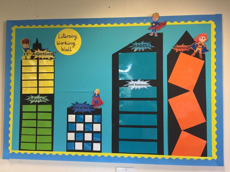 KS1 working wall. Literacy.