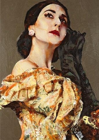 Lita Cabellut, Maria Callas 01