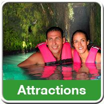 Xcaret - a really cool eco-archaeological park near Cancun. My whole family would love this.