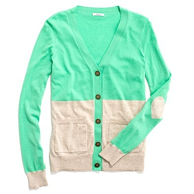 Love the color and the heart elbow patch!!!Madewell Colorblock, Mint Green, Elbow Patches, Heart Shape, Heartnot Cardigans, Colorblock Heartnot, Teachers Clothing, Heart Elbow, Colorblock Cardigans