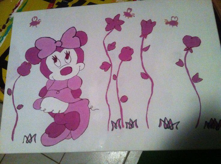 Mini Mouse Bild 20€ www.facebook.com/CordeliasArtandMore