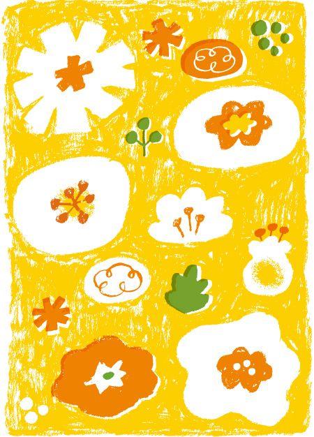 花のパターンのイラスト