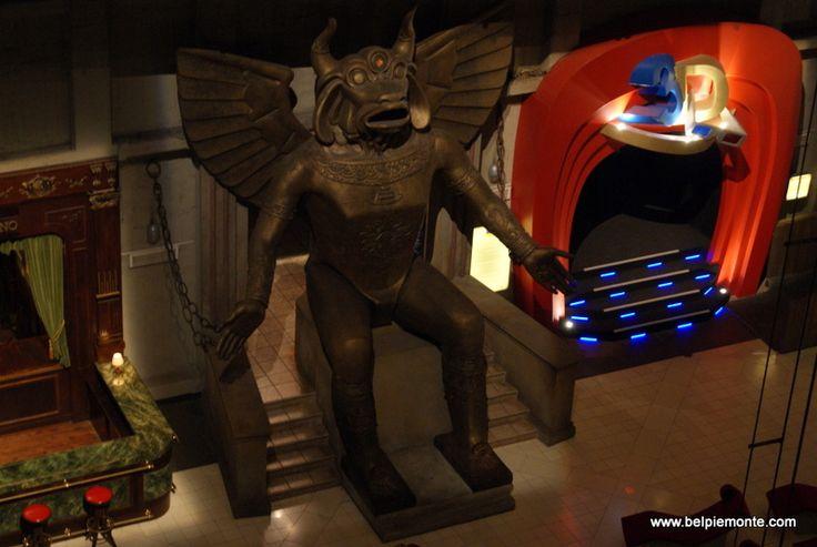 a giant Moloch in the temple of cinema inside la Mole Antonelliana