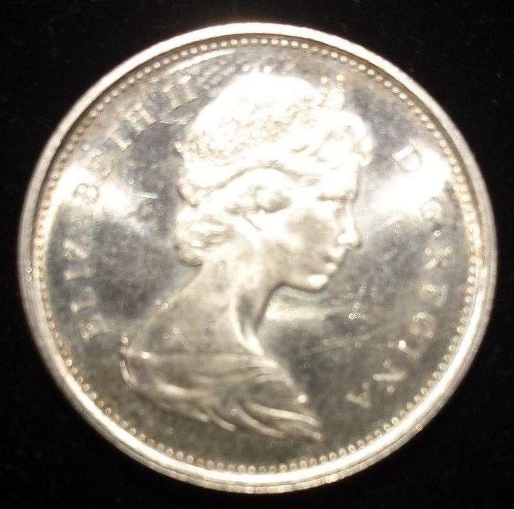 1965 Canadian Quarter Dollar Silver Canada Cash Money Great Details Elizabeth