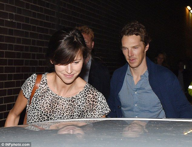 Popular: Benedict's fans have been queuing outside the theatre for the chance to claim last minute tickets