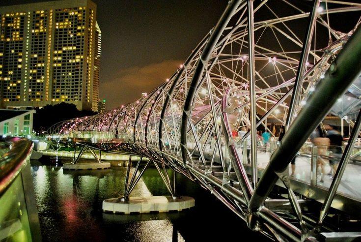 Мост, построенный по фен-шуй: Helix Bridge (Сингапур) - Путешествуем вместе