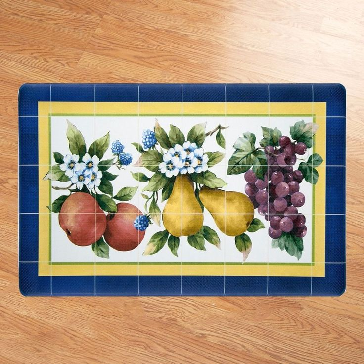 Fruity Tiles Anti-fatigue Kitchen Mat Comfort and Relief for Tired Feet 18x30 In #KitchenMat #AntiFatigue #Comfort #Comfy #Decorative #AntiFatigueMat #Home #Kitchen #DiningRoom #FootRest