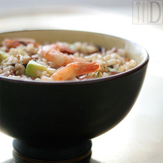 Il Diario Gastronomico: Insalata di riso selvatico, gamberi, avocado e lime