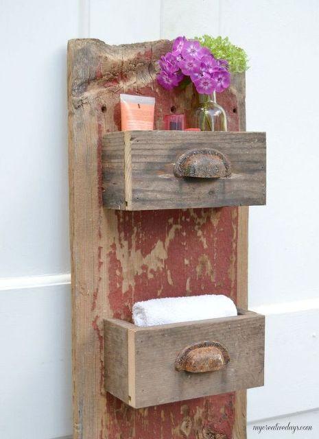 diy barn wood wall bin, diy, go green, repurposing upcycling, storage ideas