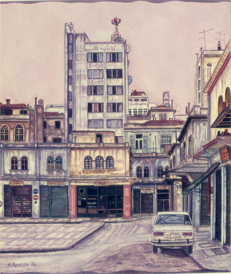 Kapani-old market in Thessaloniki 70's