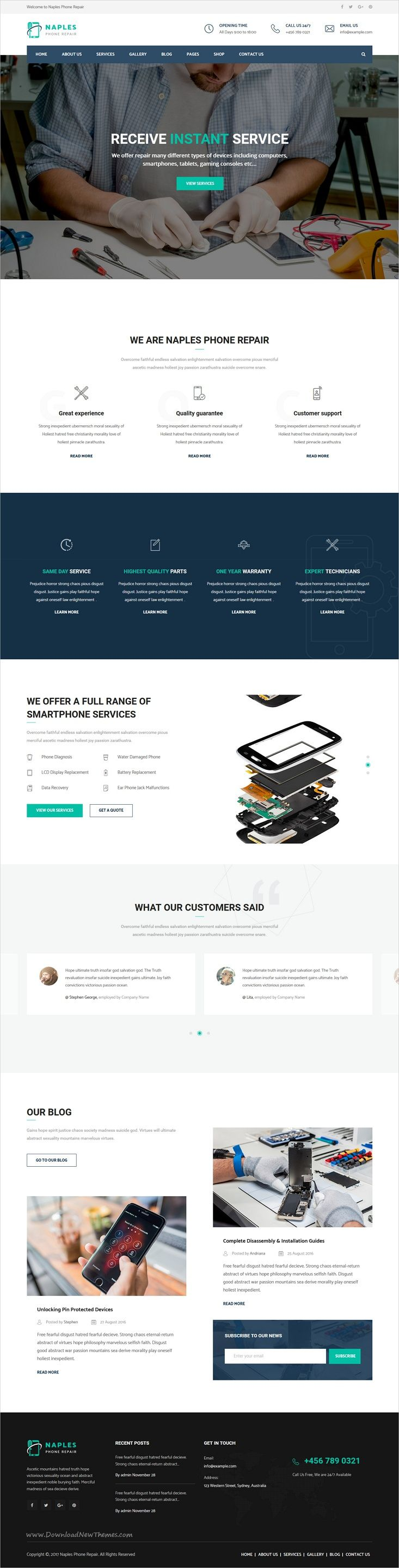 Naples is a wonderful 3in1 responsive #WordPress theme for #electronics, phone or computer #repair shop websites download now➩  https://themeforest.net/item/naples-phone-computer-repair-shop-wordpress-theme/19171468?ref=Datasata