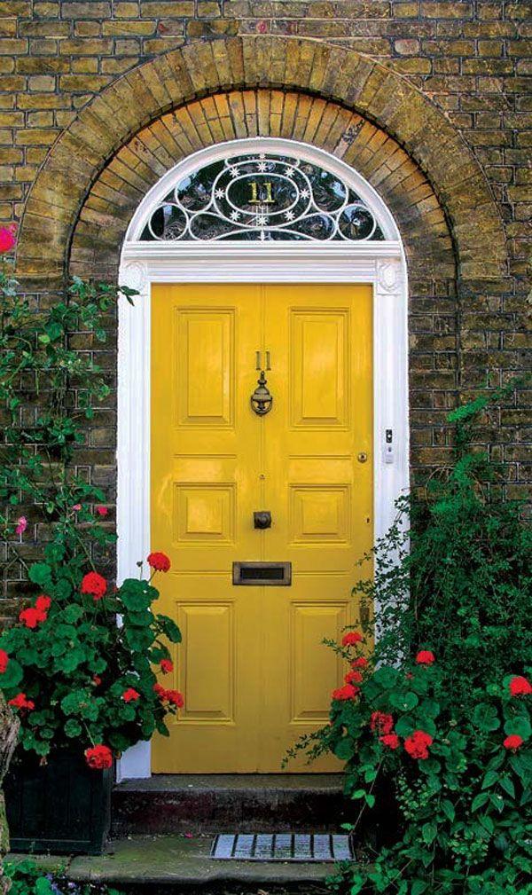 yellow front door 30 Inspiring Front Door Designs Hinting Towards a Happy Home