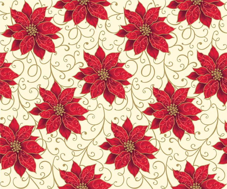Seamless Poinsettia Print 4 by DonCabanza on DeviantArt