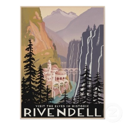 Vintage Travel Poster, Fantasy Style