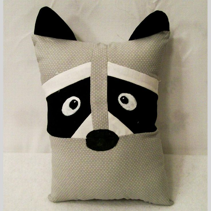 This little huggable raccoon pillow can be a play buddy, a sleep buddy, a tag along comfy pillow or most any kind of toy you want it to be.