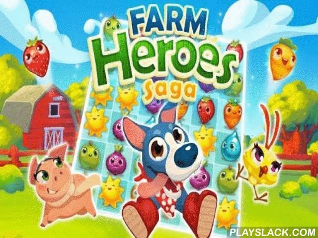 "Farm Heroes Saga  Android Game - playslack.com , a game in ""three in a row"" kind where you will gather definite kinds of creator societies for minor abstraction of courses."