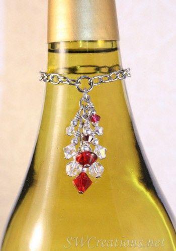 SWCreations Beaded Jewelry Designs - Scarlett Diva Crystal Wine Bottle Charm, $24.20 (http://www.swcreations.net/beaded-gifts/wine-charms-wbc01-scarlett-diva-crystal-wine-bottle-charm.html)
