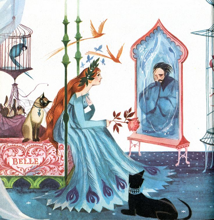Gordon Laite 'Beauty and the Beast' from The Blue Book of Fairy Tales