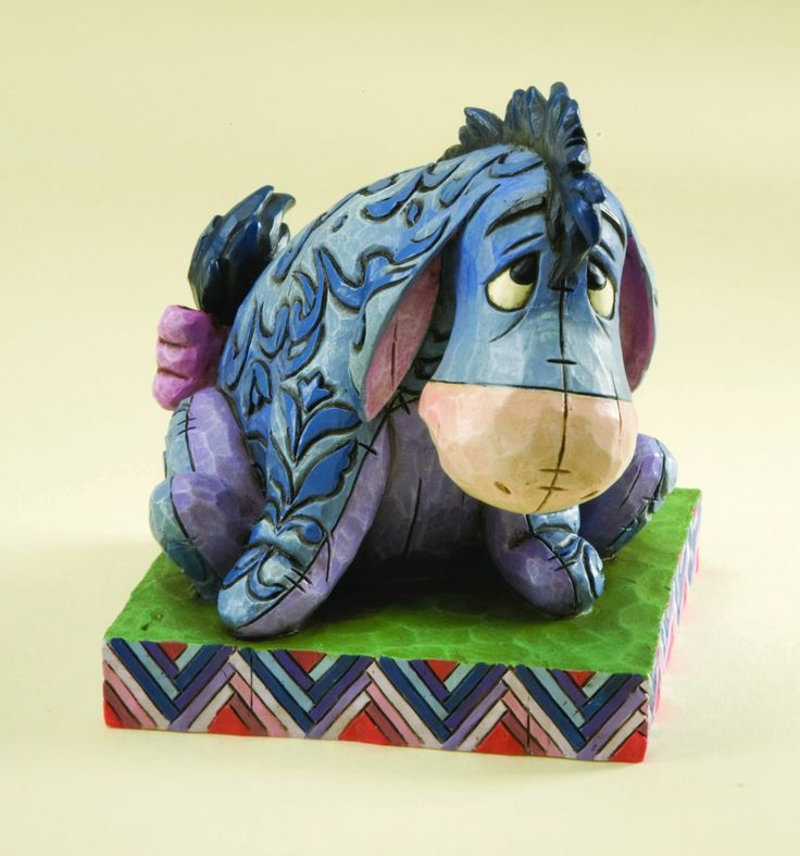 """Disney Traditions by Jim Shore Winnie the Pooh Eeyore """"True Blue Companion"""" 