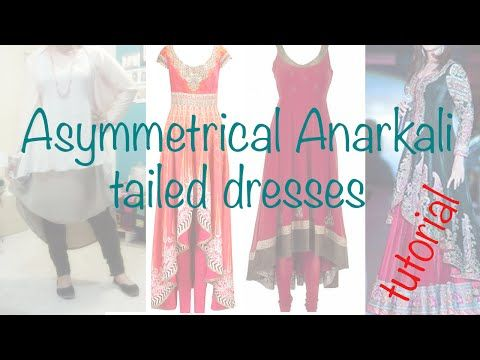 ♥Asymmetrical Anarkali ☁ 2 layers Tailed dress - YouTube