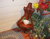 Vintage Wooden Corner Shelf, Tea Cups Shelf, Nick Knacks Shelf, Collectibles Shelf, Vintage Home Decor, Home Decor,