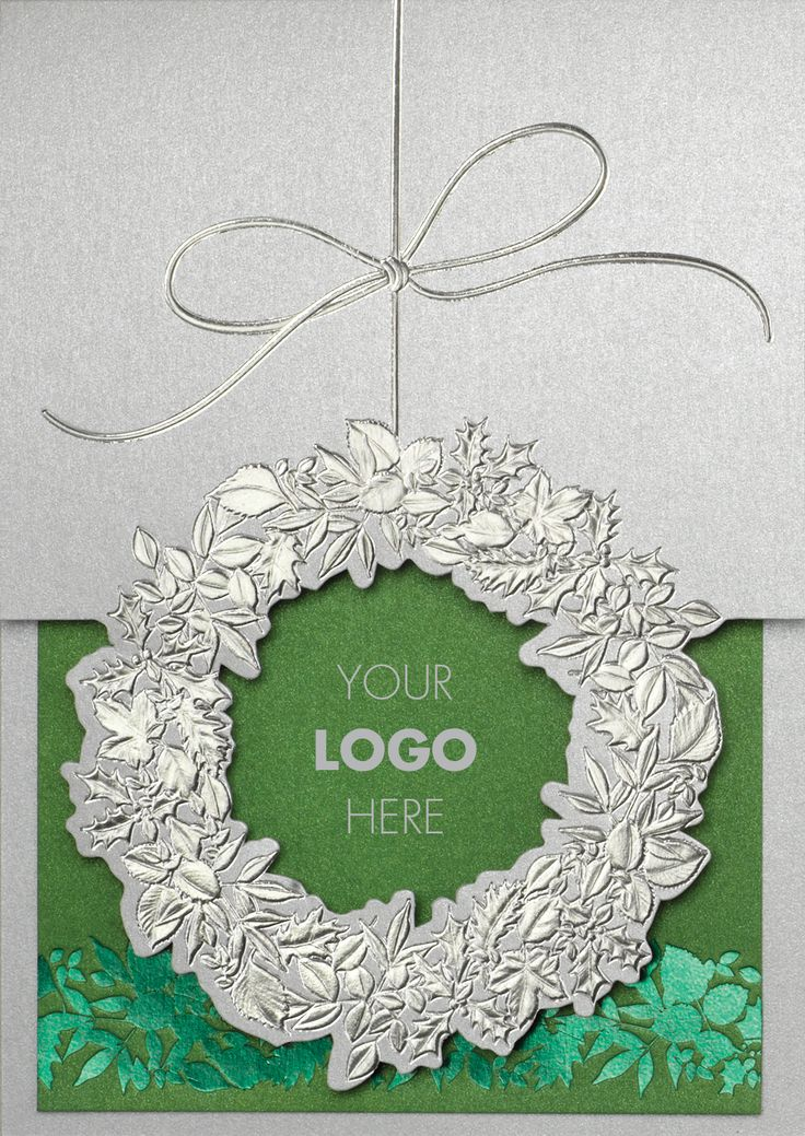 33 best Holiday Cards With Christmas Wreaths images on Pinterest ...