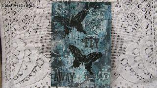 """Elen ArtCrafts: """"Fly away""""...Mixed media art journal page!"""