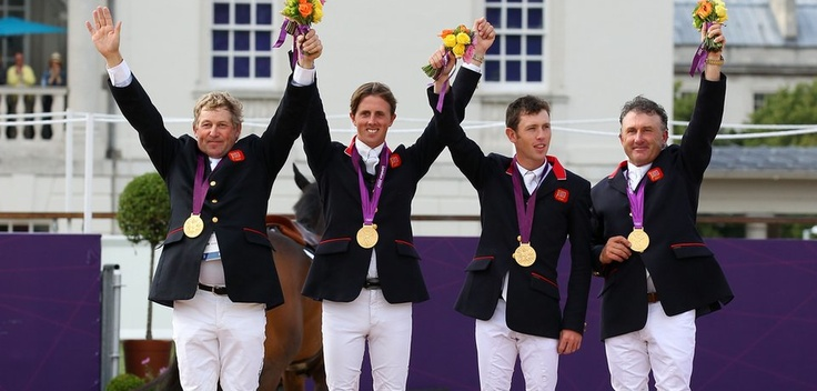 Great Britain's show jumpers won their first Olympic gold medal in 60 years with a tense jump-off as 52-year-old Peter Charles cleared all the jumps in the course.