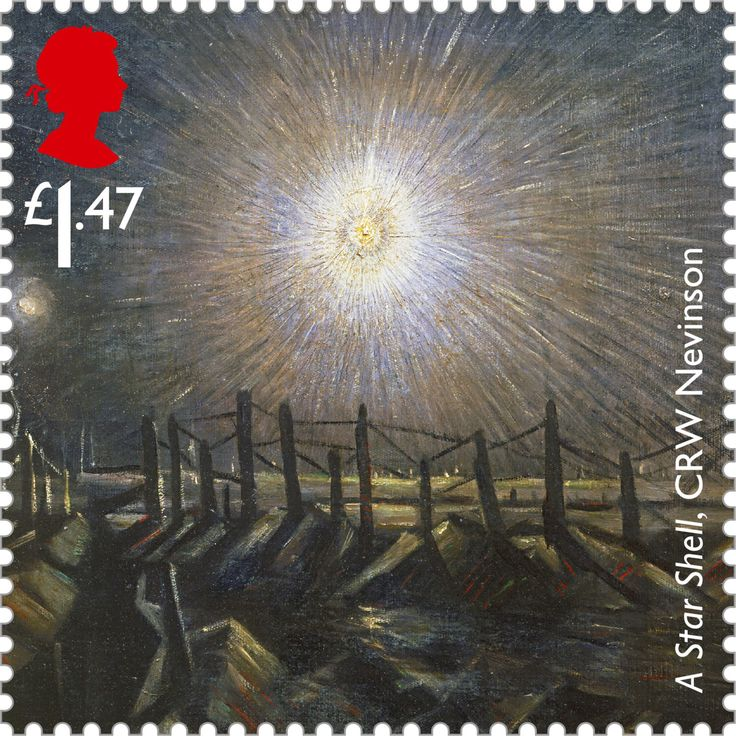Centenary of a The Great War Issued July 2014 A Star Shell, C R W Nevinson