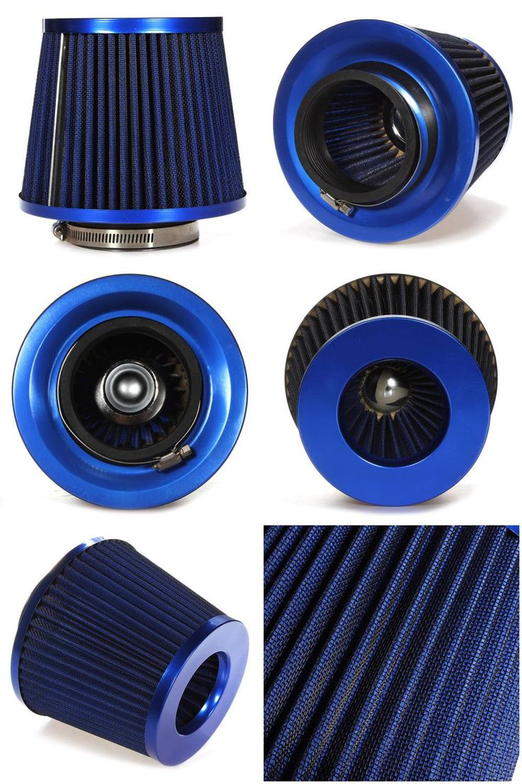 [Visit to Buy] New Universal Car Air Filter Vehicle Induction Kit High Power Mesh Blue Finish Sport #Advertisement
