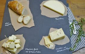 Paper under the cheese on chalk paper/board