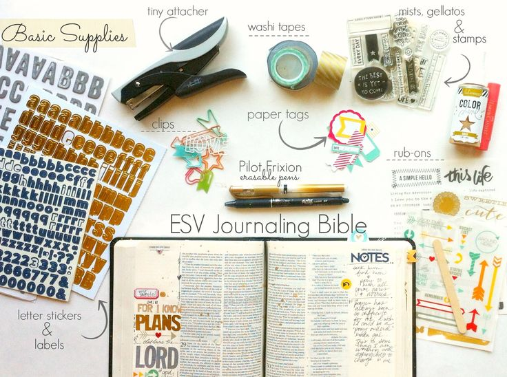 journaling bible supplies