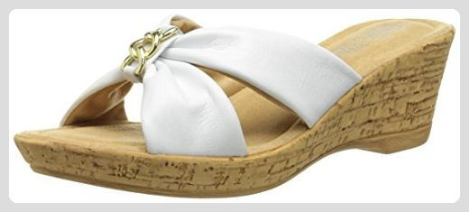 Bella Vita Aquila Damen US 9.5 Weiß Keilabsätze Sandale - Sandalen für frauen (*Partner-Link)