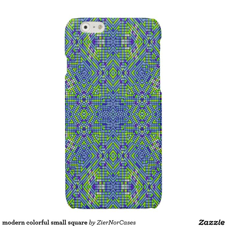 modern colorful small square glossy iPhone 6 case