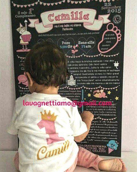Buon compleanno alla piccola Camilla!!!!!! Numero uno!!!!!! #lavagnettiamo #lavagnettiamo@gmail.com #solocosebelle #love #chalkboard #chalkboardart #art #roma #rome #madeinrome #madeinitaly #italy #italianstyle #italygram #italyiloveyou #etsy #babygirl #lavagnetta #lavagna #lavagnettepersonalizzate #primocompleanno