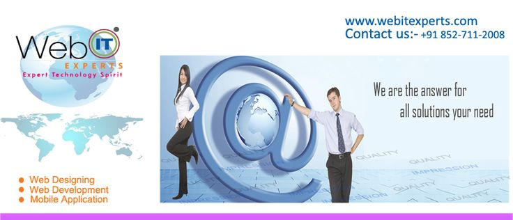 Bringing your ideas to live, website designs is our forte. We carve perfect designs to build creative websites that engage users on both desktop & mobile devices with its ultra modern responsive UI.Visit :http://www.webitexperts.com/   Business portals development, Web Designing Company India, Web Development, E-Commerce Development India, Web Design Company Noida, Mobile apps development, Outsource web design