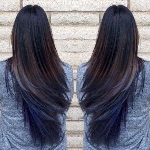 blue ombre hair_10 Mahogany Blue ombre