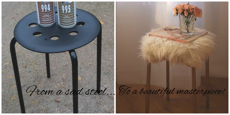DIY: Ikea Hack gorgeous and simple diy from a Ikea stool!   Ikea-jakkaran helppo ja nopea muutos kauniiksi sisustuselementiksi!